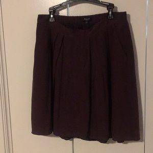 Eggplant purple Madewell pleated mini skirt